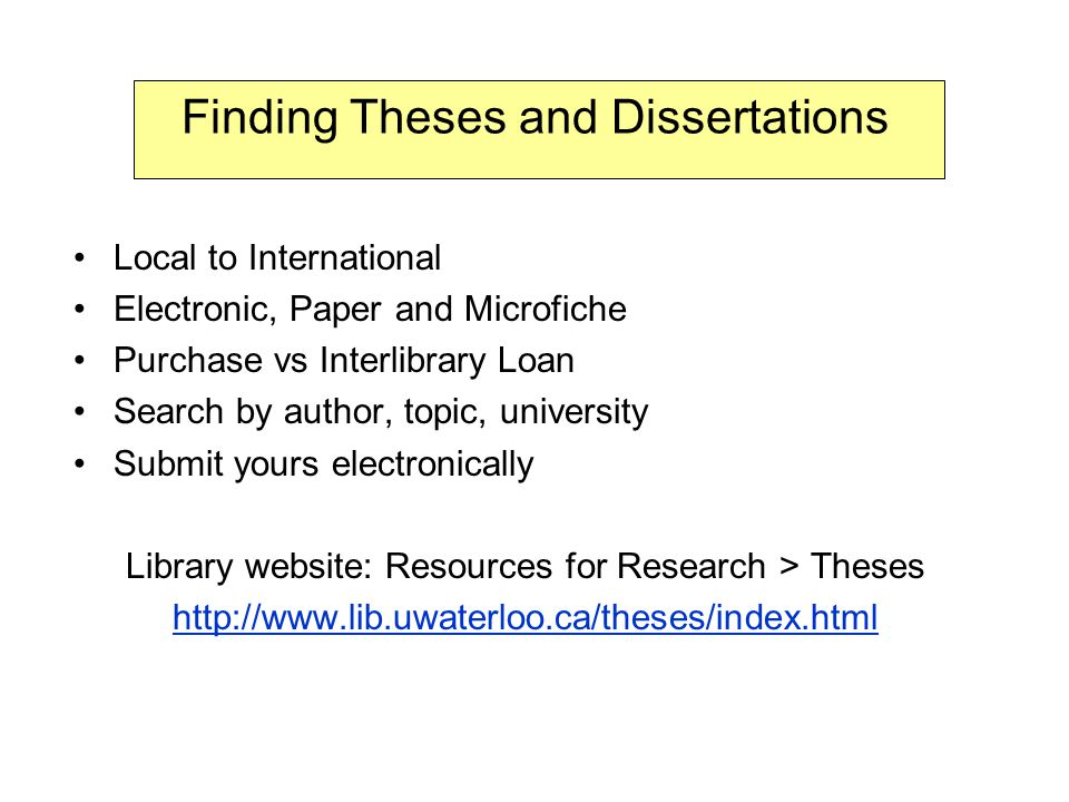 search dissertations