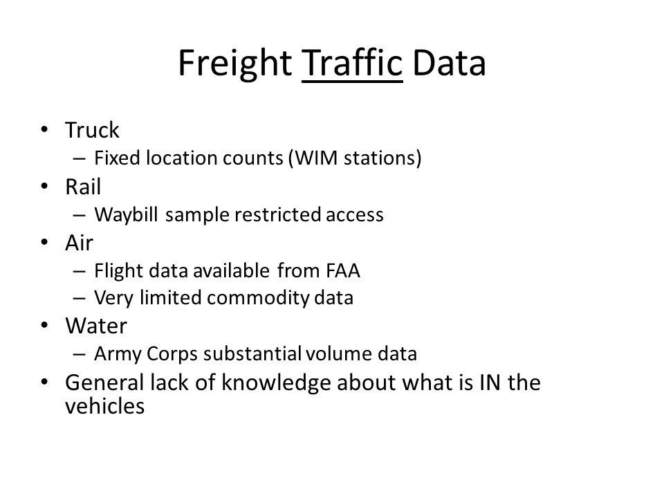 10 freight traffic data truck