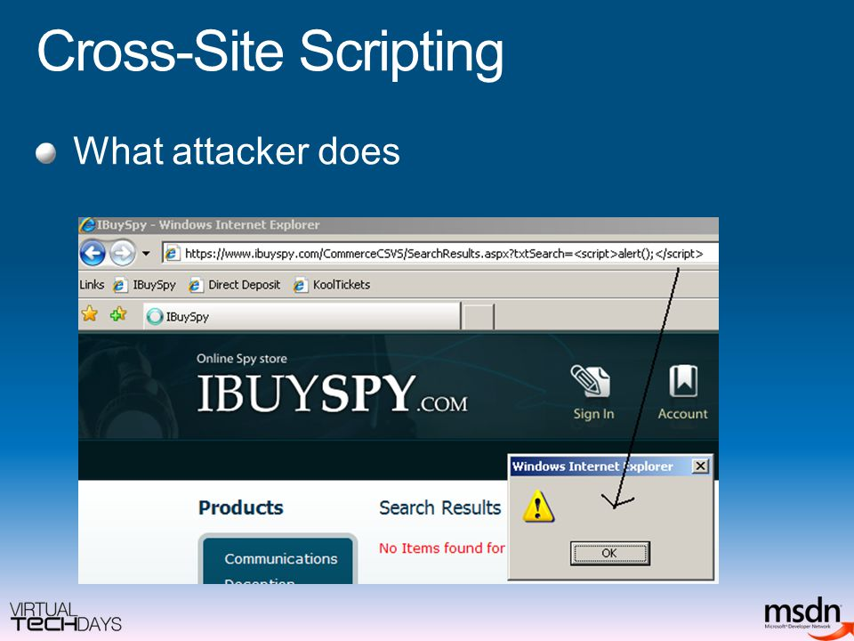 Cross-Site Scripting What attacker does