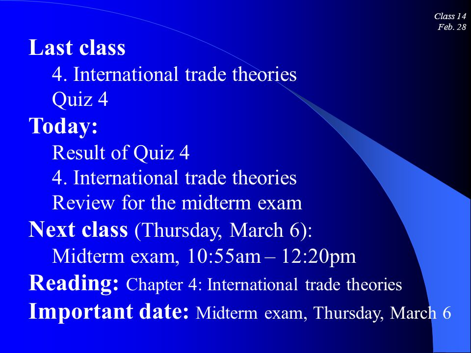 international economics midterm exam