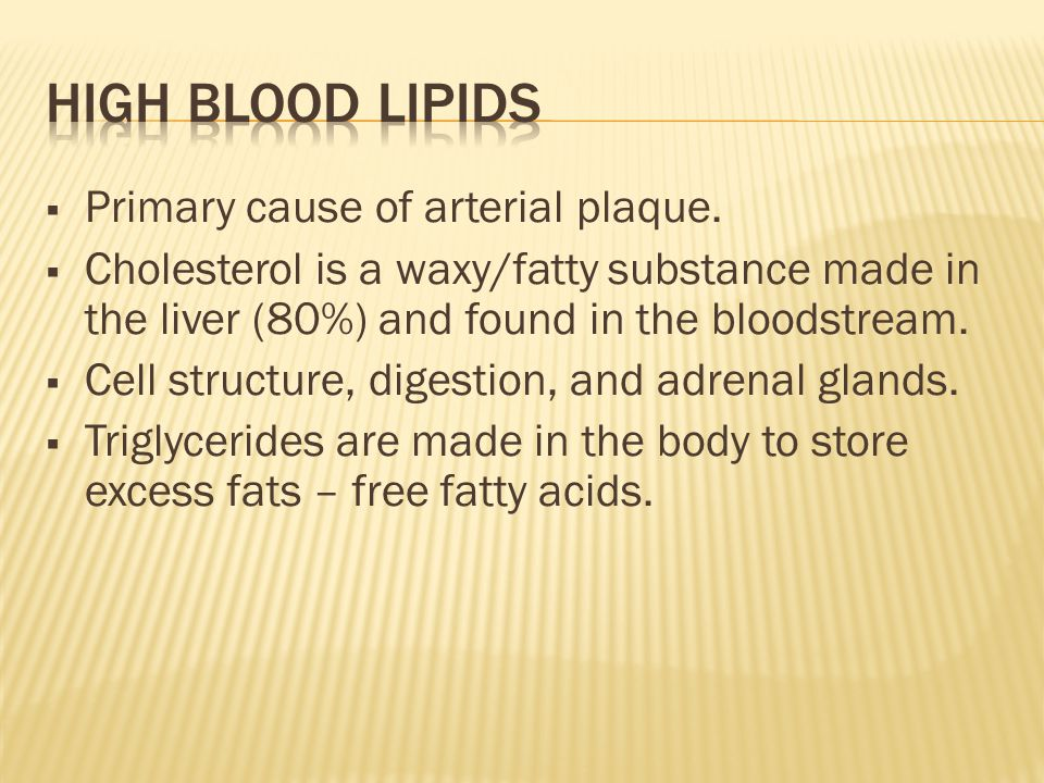 Primary cause of arterial plaque.