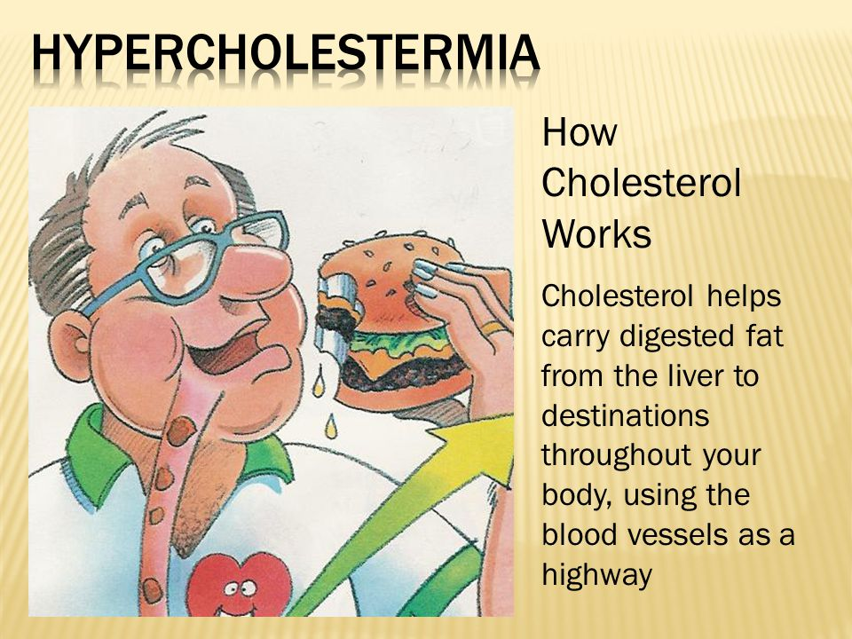 How Cholesterol Works Cholesterol helps carry digested fat from the liver to destinations throughout your body, using the blood vessels as a highway