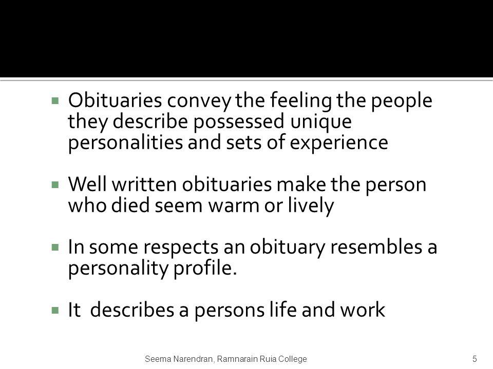 describe a unique person