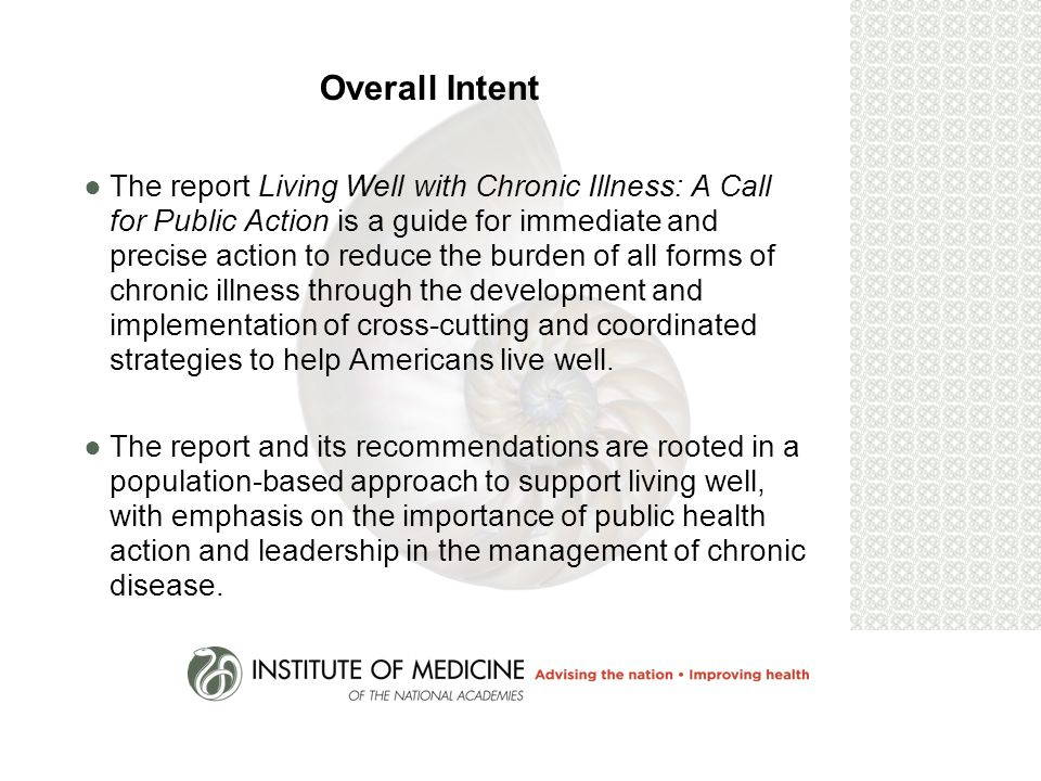 Living Well with Chronic Illness: A Call for Public Health Action