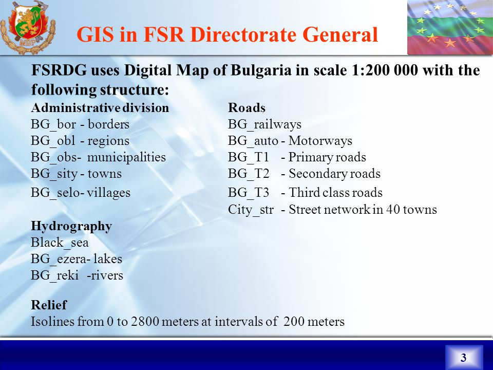 1  2 GIS in FSR Directorate General MapInfo Professional 7 8
