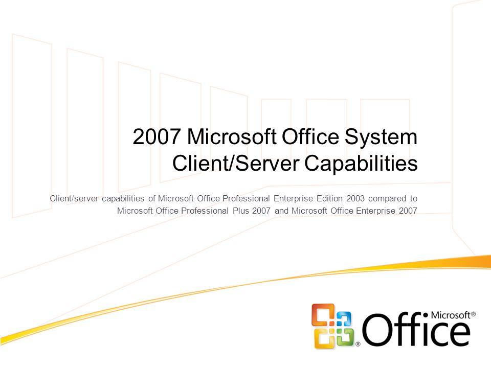 microsoft office 2007 professional plus vs enterprise