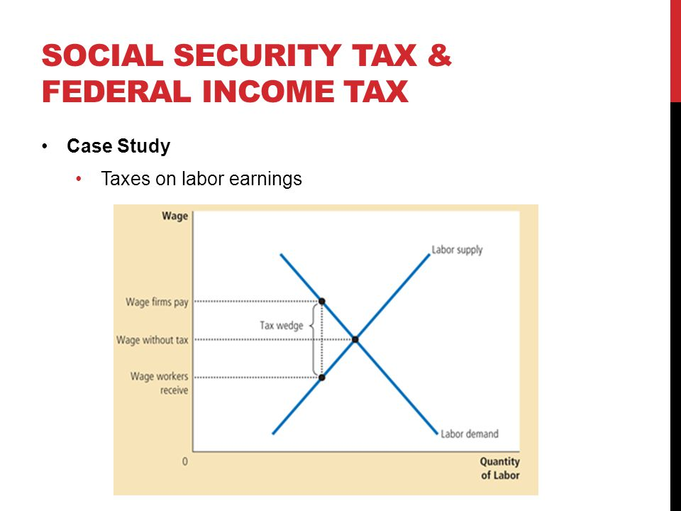 SOCIAL SECURITY TAX & FEDERAL INCOME TAX Case Study Taxes on labor earnings