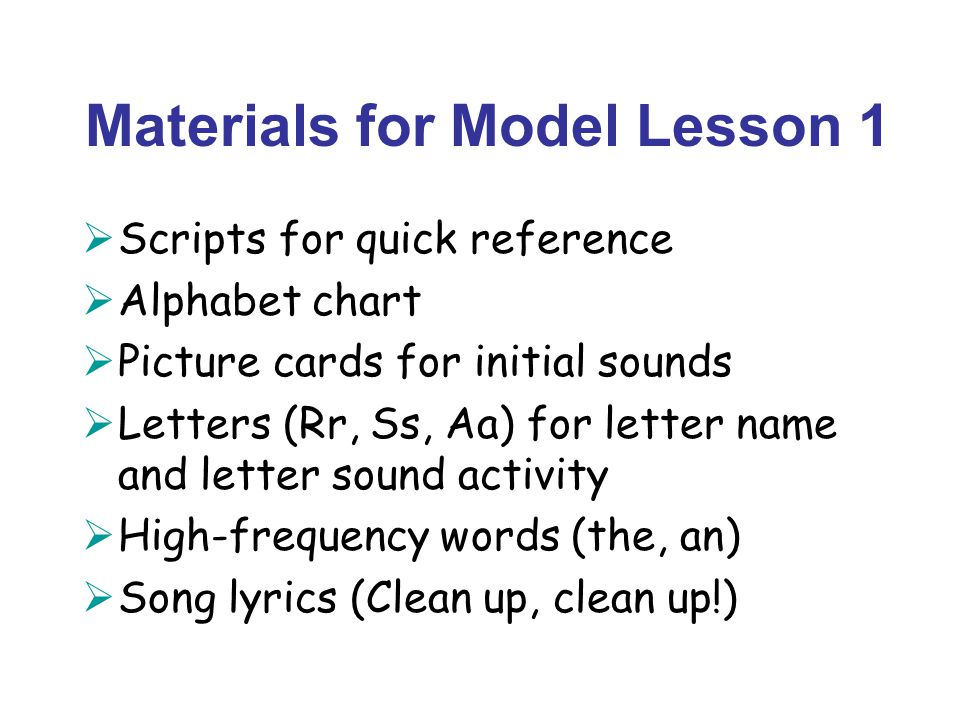 Lesson Overviews Phonemic Awareness Phonics And Word Recognition