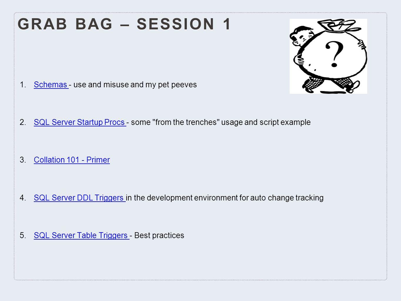 Grab Bag & Short Shouts PASS Victoria BC Chapter Fall 2014