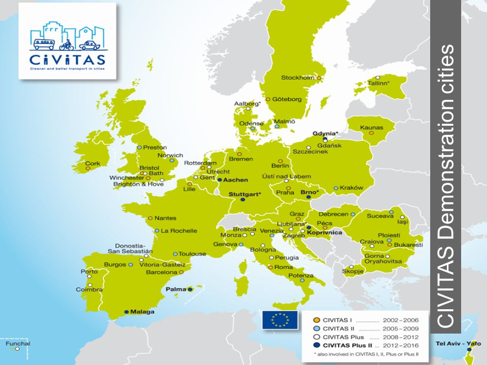 THE CIVITAS INITIATIVE IS CO-FINANCED BY THE EUROPEAN UNION CIVITAS Demonstration cities