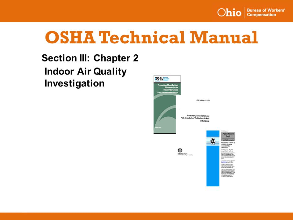 standards and codes experience industry vs schools offices ppt rh slideplayer com osha technical manual heat osha technical manual pdf