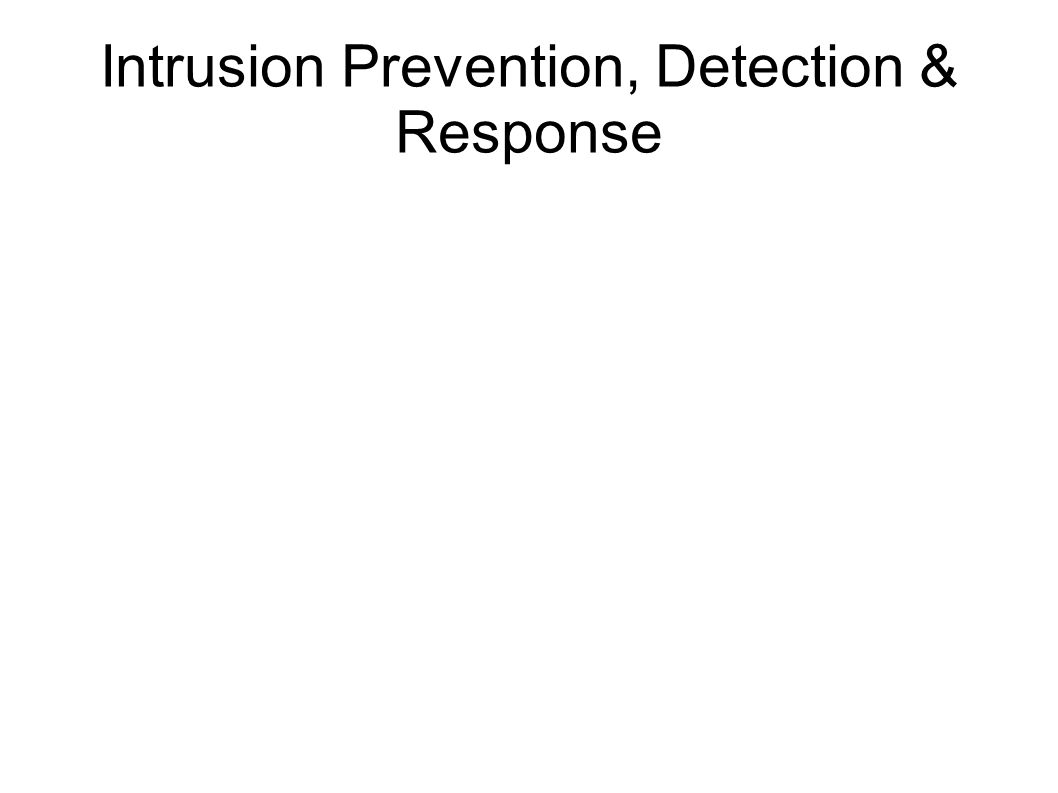 Intrusion Prevention, Detection & Response