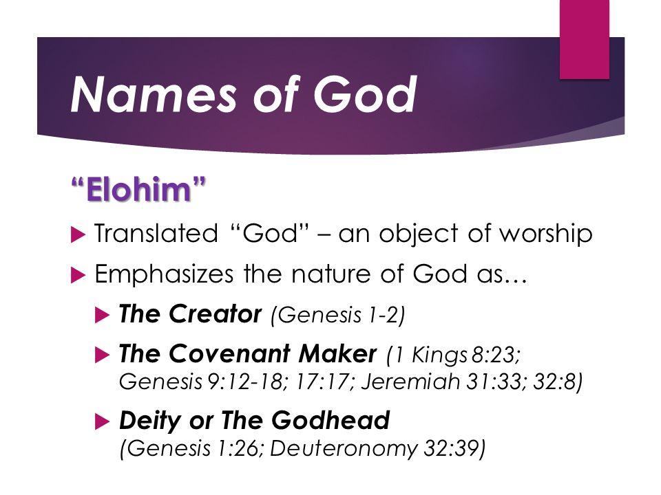 Names of God John 17:3