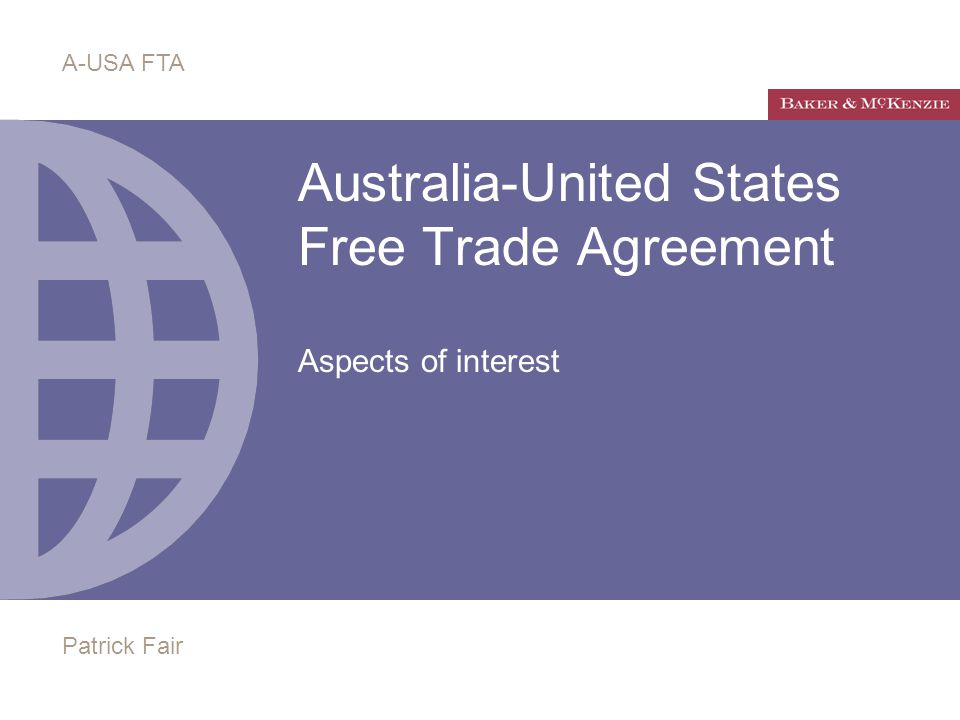 Australia United States Free Trade Agreement Aspects Of Interest A