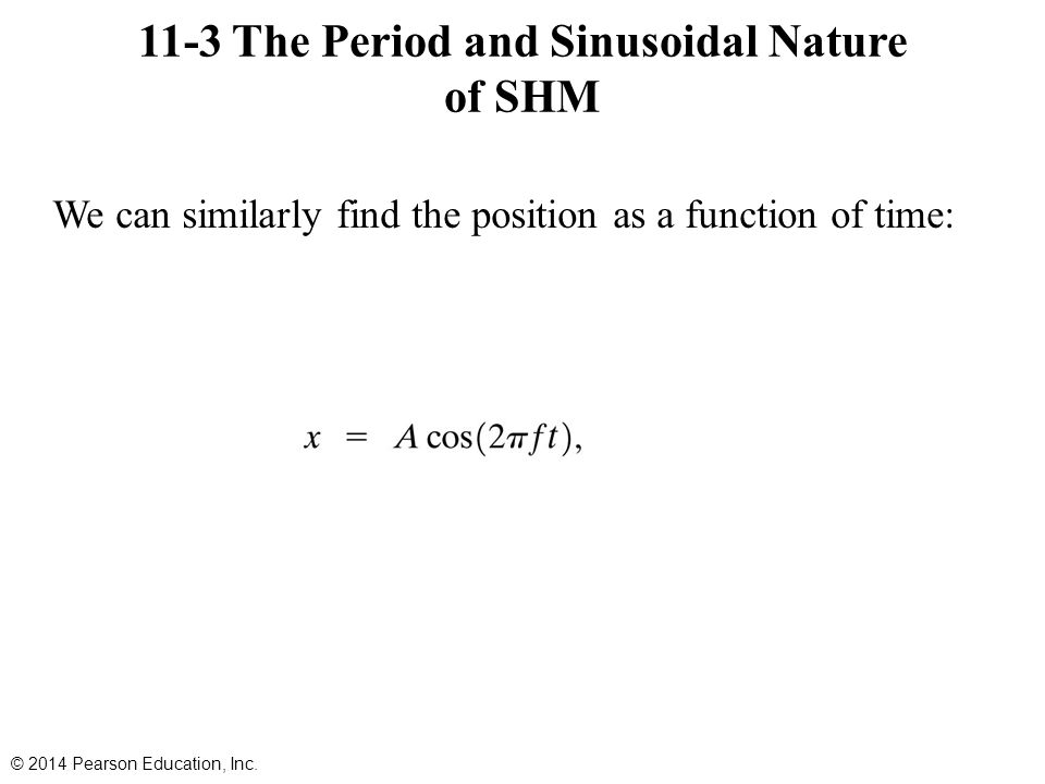 The Period and Sinusoidal Nature of SHM Therefore, we can use the period and frequency of a particle moving in a circle to find the period and frequency: