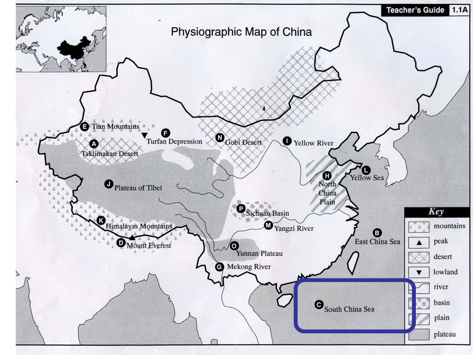 Physiographic Map Of China Physiographic Map Study of China   ppt video online download