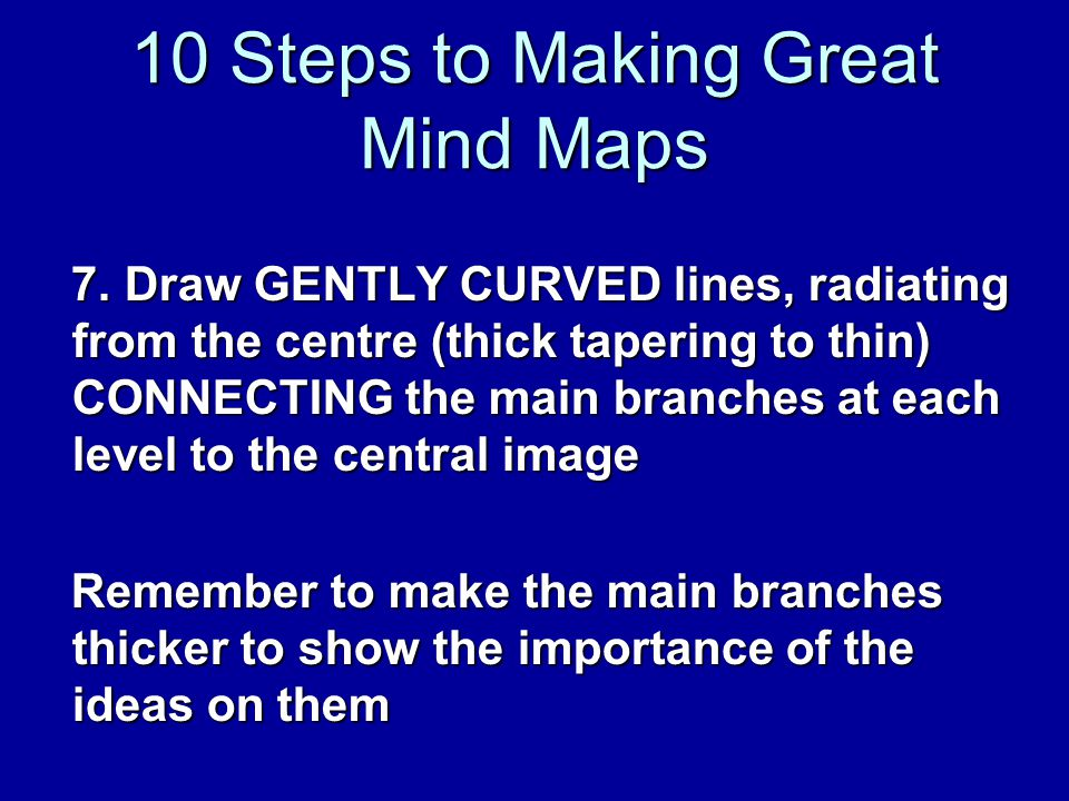 10 Steps to Making Great Mind Maps 7.