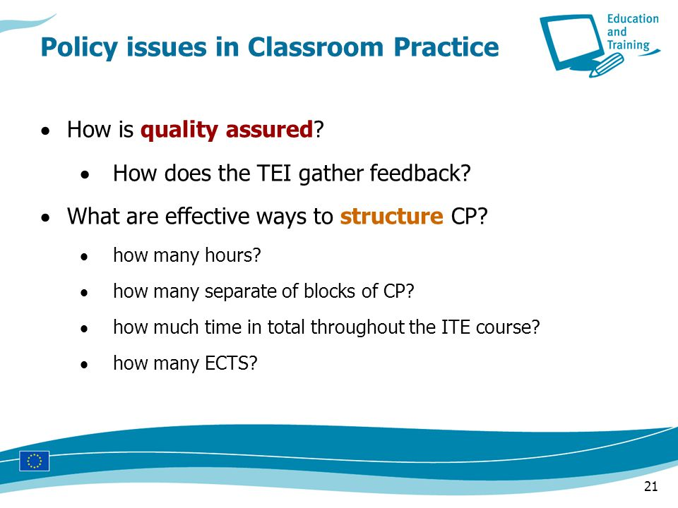 21  How is quality assured.  How does the TEI gather feedback.
