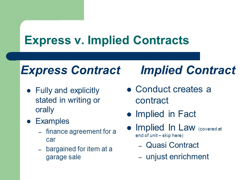 Example Express Contract