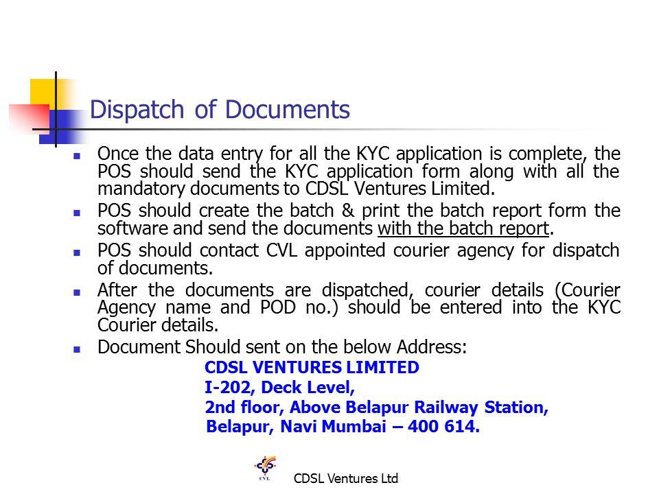 CDSL Ventures Ltd KYC Compliance Process Verification of