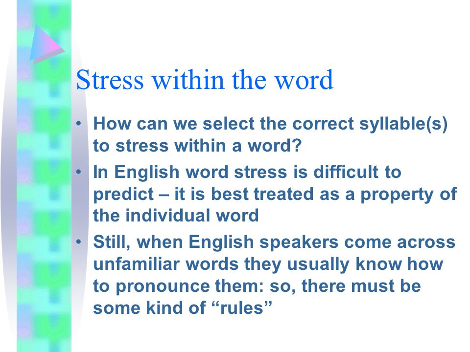 where does the word stress come from