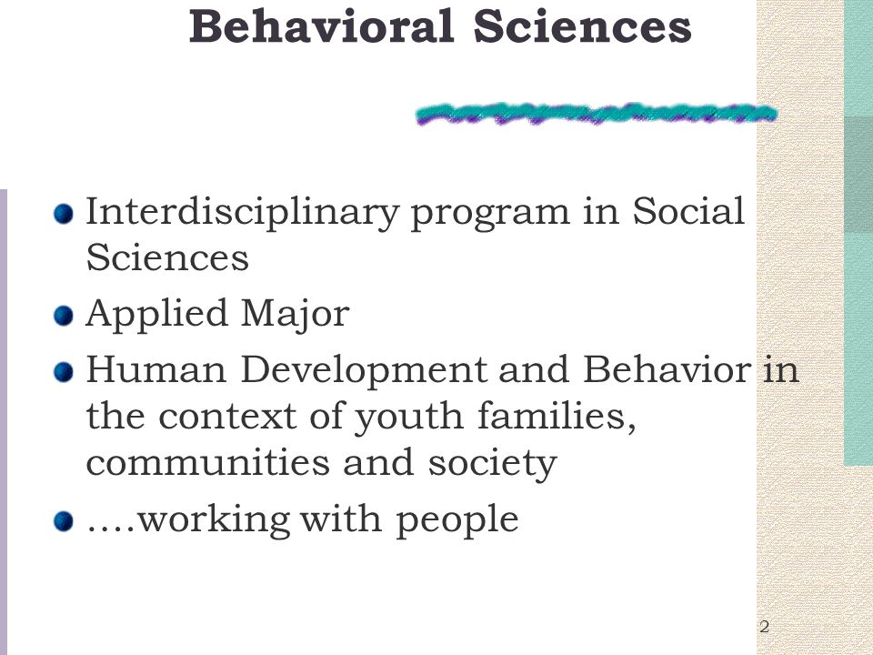 1 What Is Behavioral Science Developing Your Own Definition Ppt