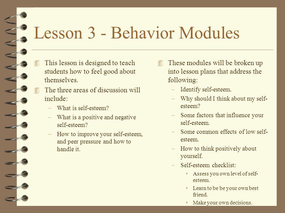 Lesson 1 - Goal Setting 4 This lesson is designed to