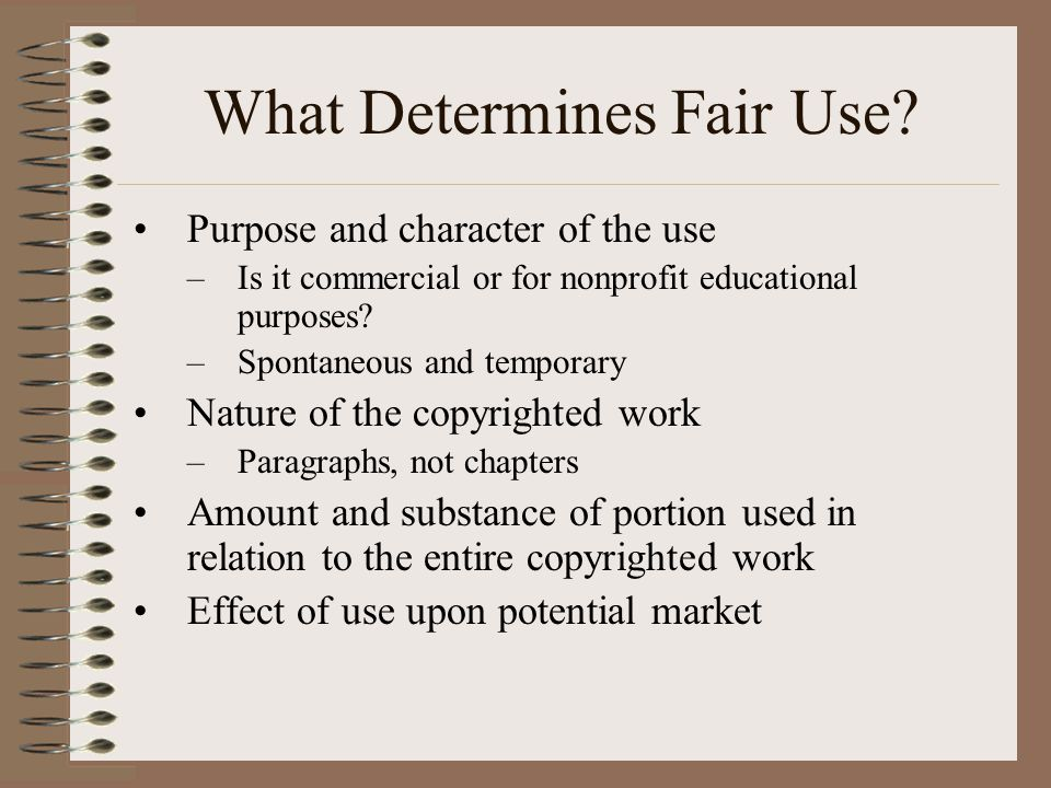 What Determines Fair Use.