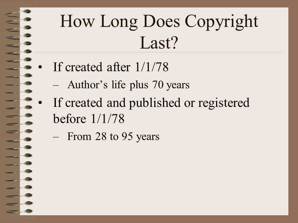 How Long Does Copyright Last.