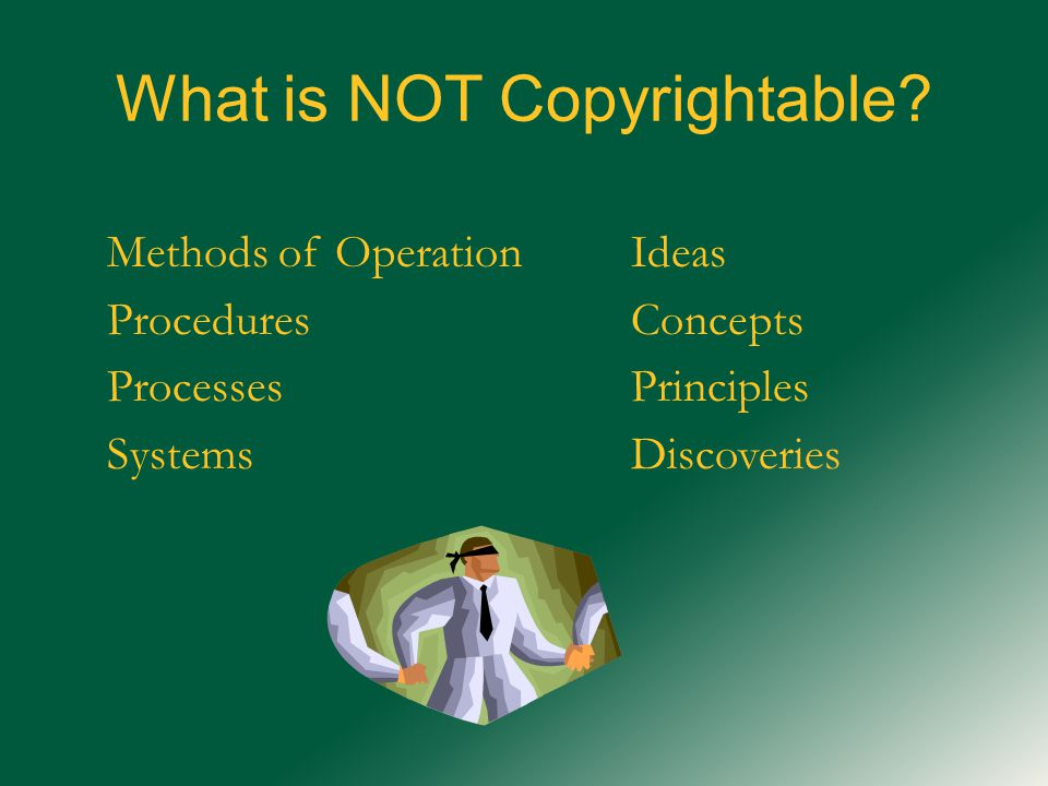 What is NOT Copyrightable.