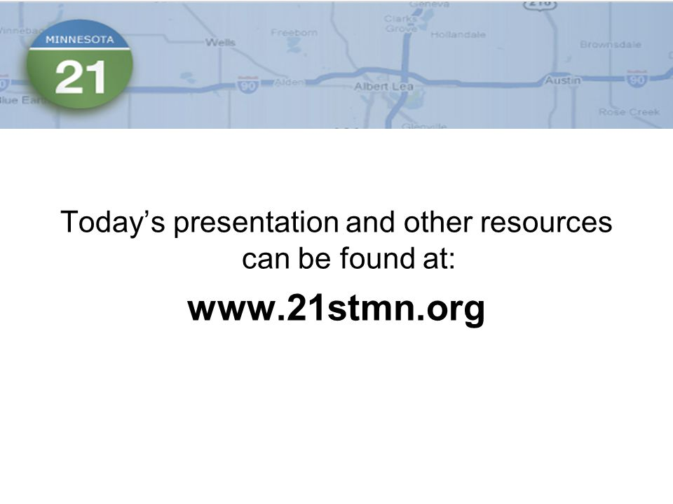 Today's presentation and other resources can be found at:
