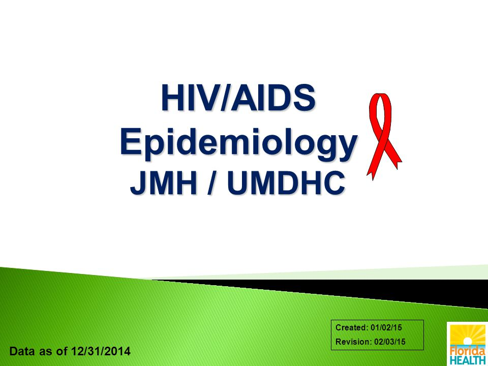 Data as of 12/31/2014 Created: 01/02/15 Revision: 02/03/15 HIV/AIDS Epidemiology JMH / UMDHC