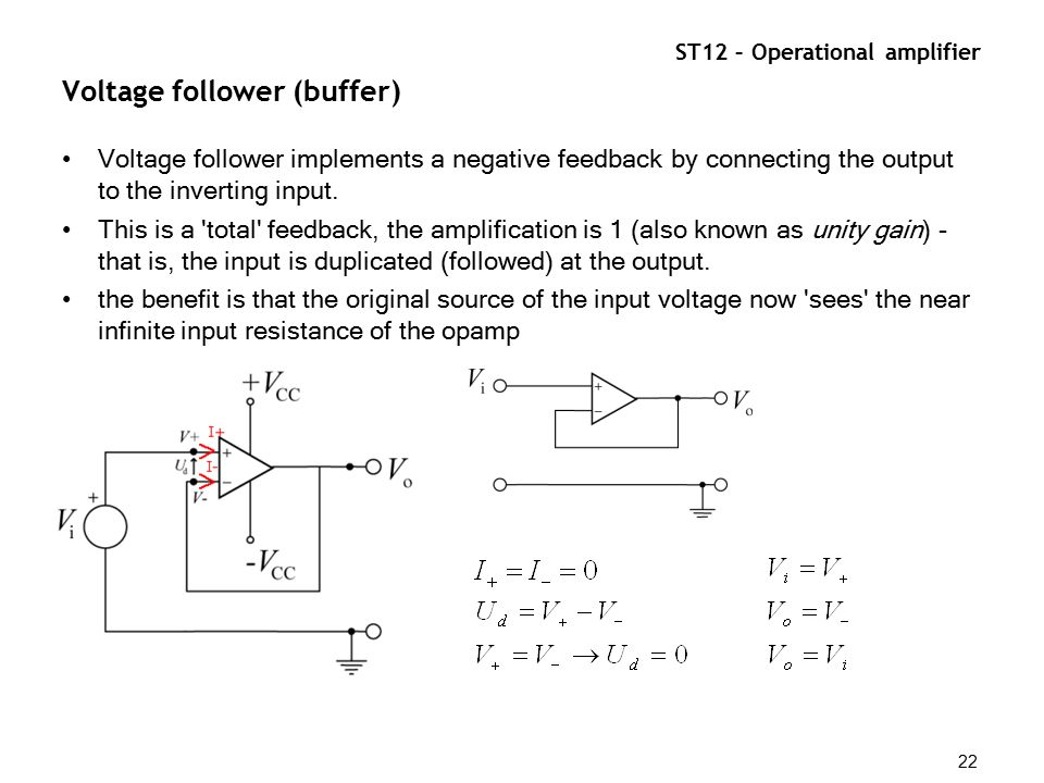 ST12 – Operational amplifier 1 Operational amplifier