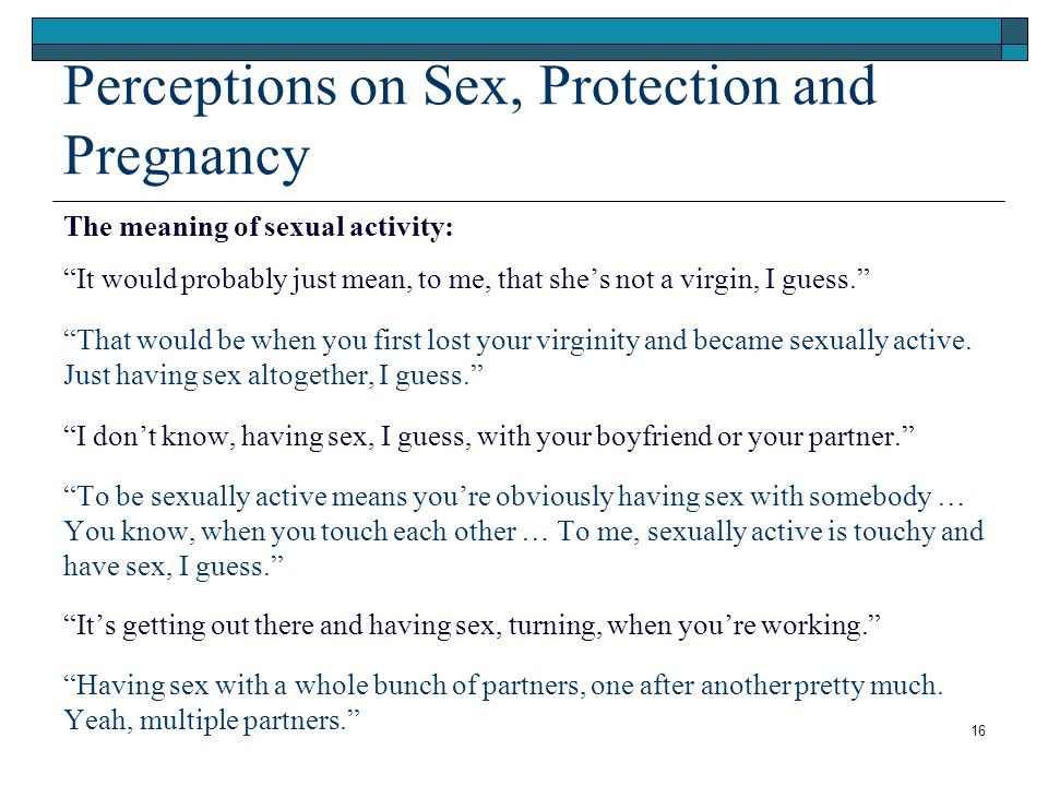 sexually active means