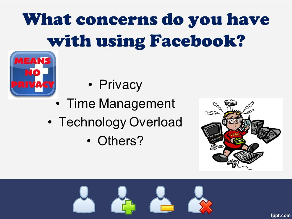 What concerns do you have with using Facebook Privacy Time Management Technology Overload Others