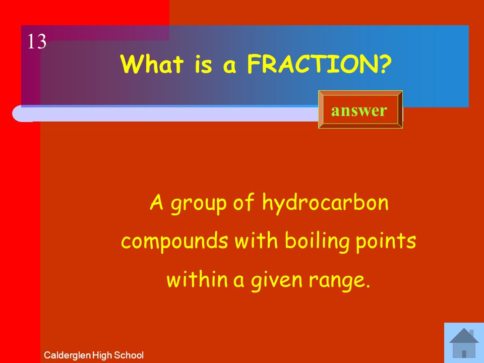 Calderglen High School What is FRACTIONAL DISTILLATION.