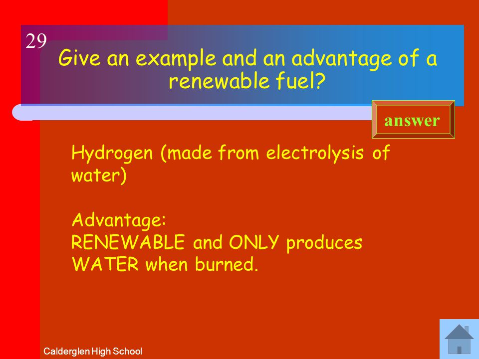 Calderglen High School Name some biofuels and explain how they are produced.