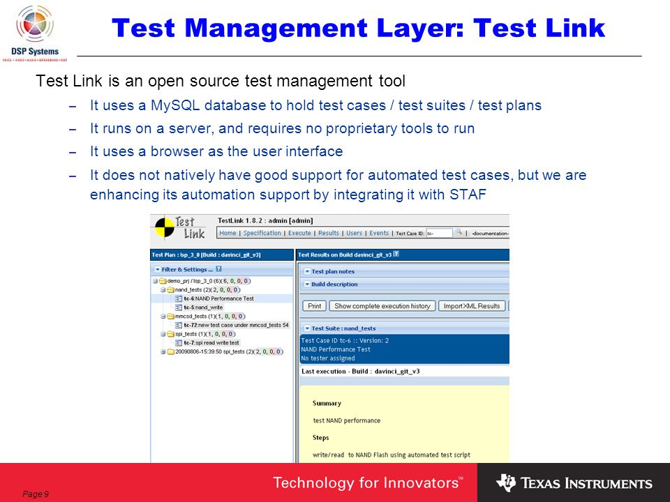 Page 1 Software Test Automation Texas Instruments Software