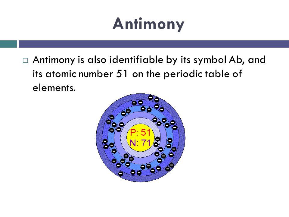 Heavy Metals Ellen Chittester Antimony Antimony Is Also