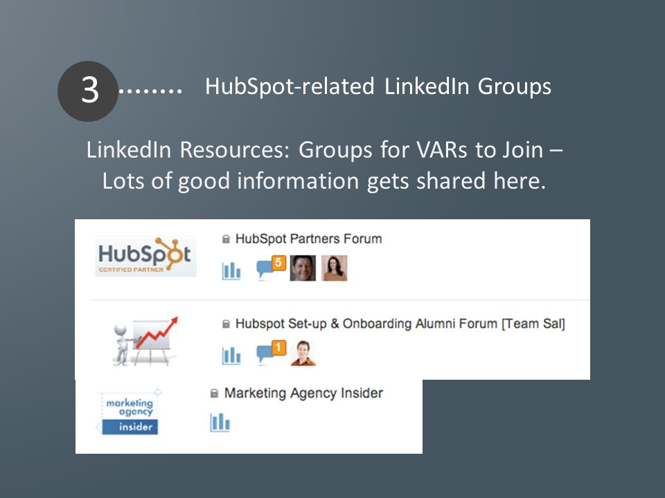 LinkedIn Resources: Groups for VARs to Join – Lots of good information gets shared here.