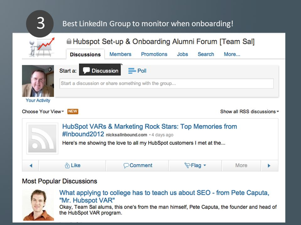 Best LinkedIn Group to monitor when onboarding! 3