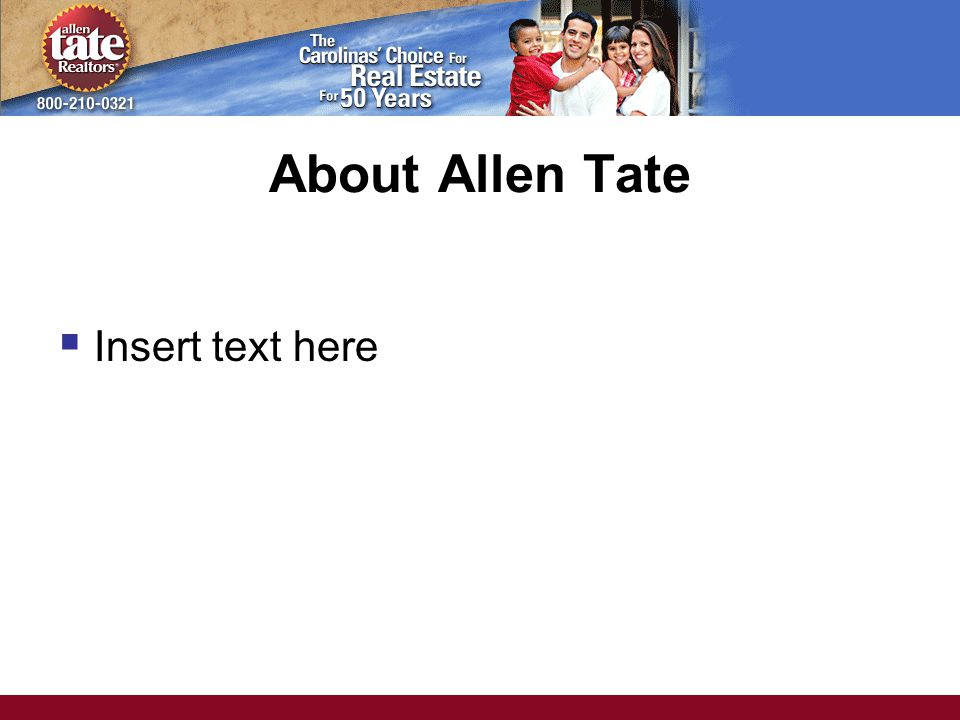 About Allen Tate  Insert text here