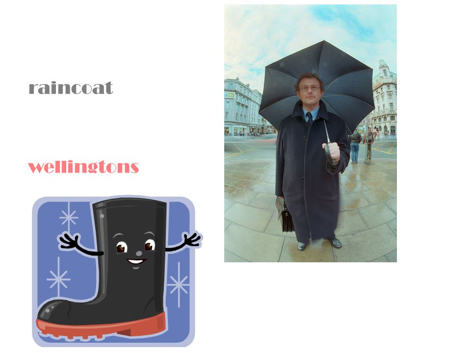 raincoat wellingtons