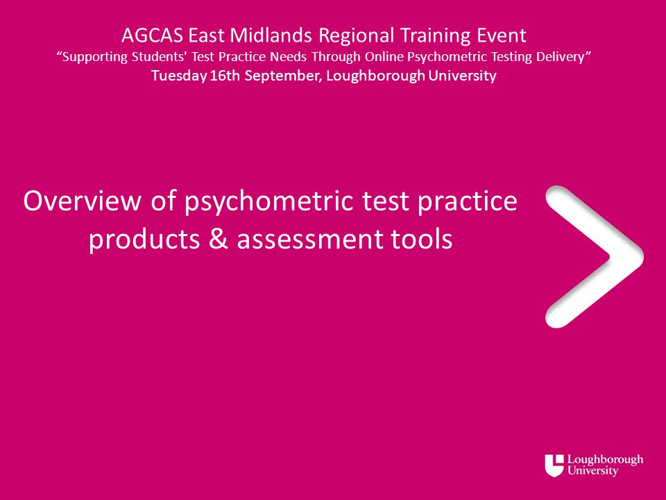 Overview Of Psychometric Test Practice Products Assessment Tools