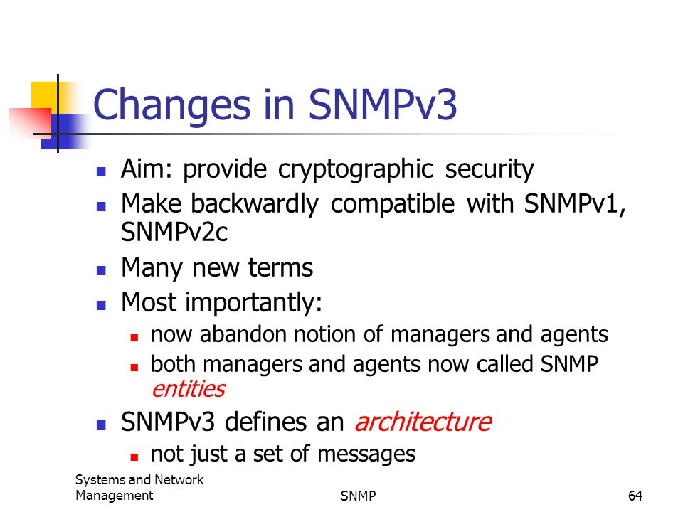 SNMP and Network Management Simple Network Management