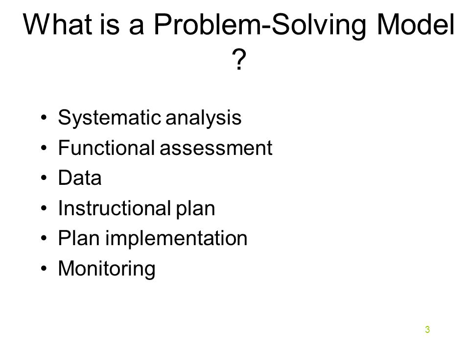 What is a Problem-Solving Model .
