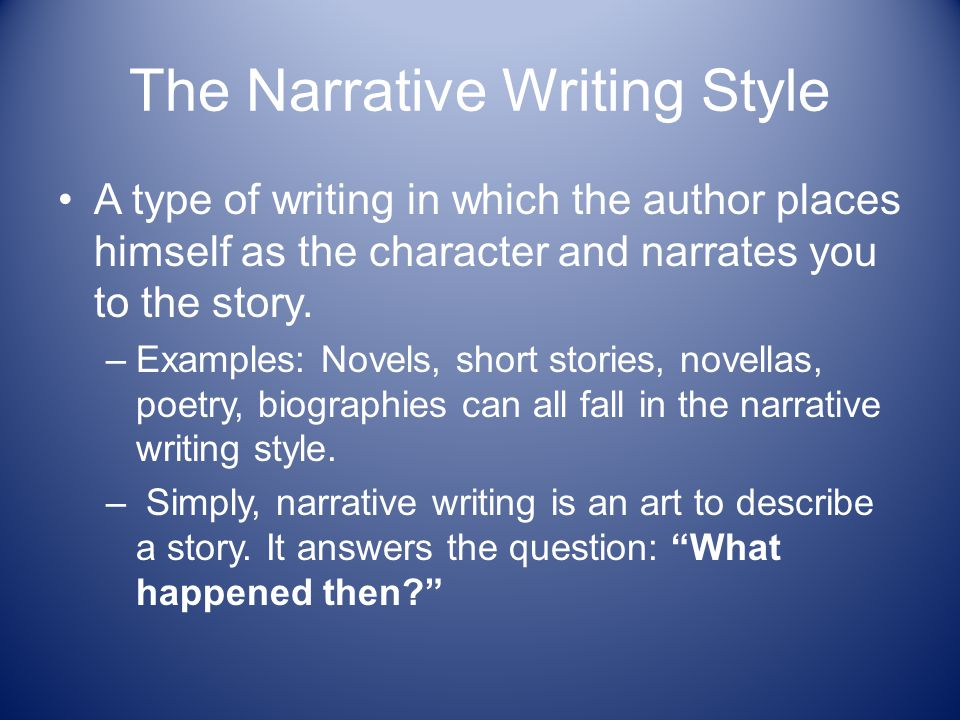 expository style