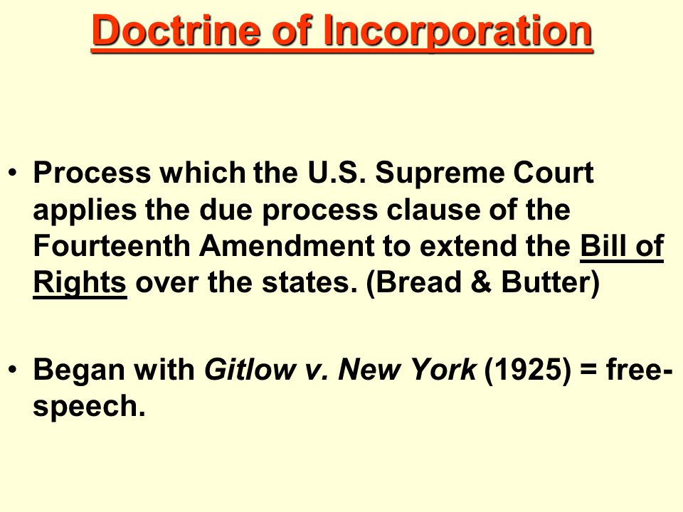 Doctrine of Incorporation Process which the U.S.