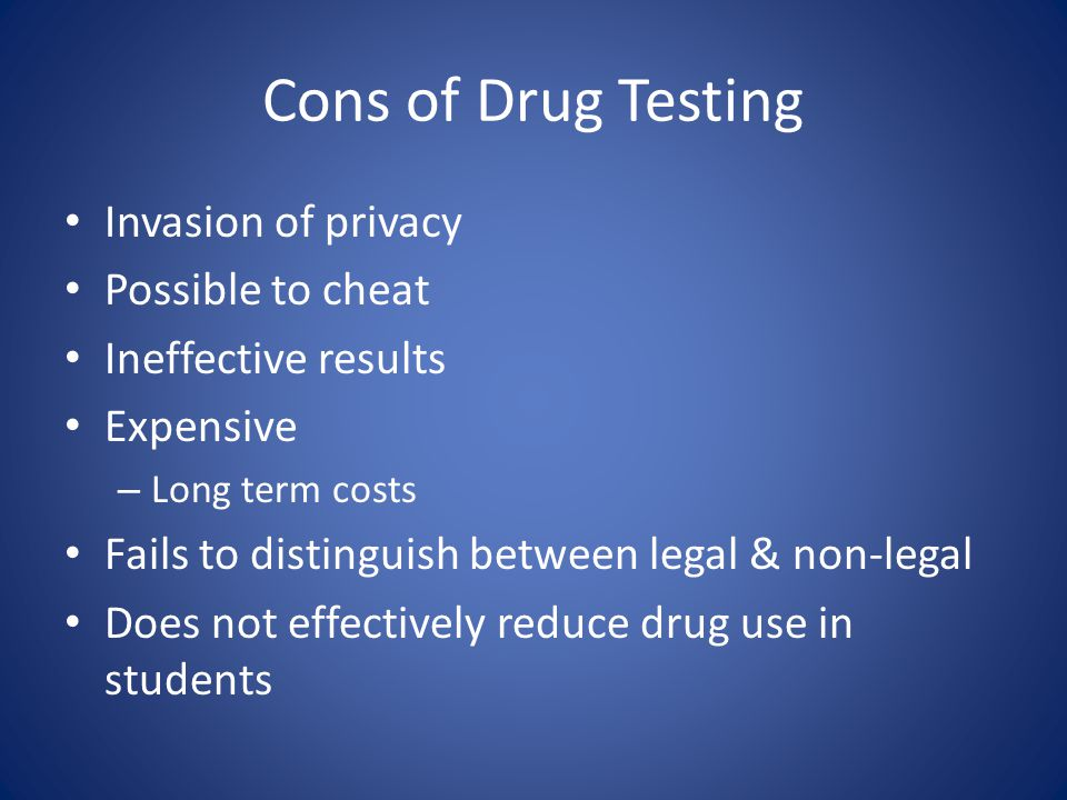 student athlete drug testing pros and cons