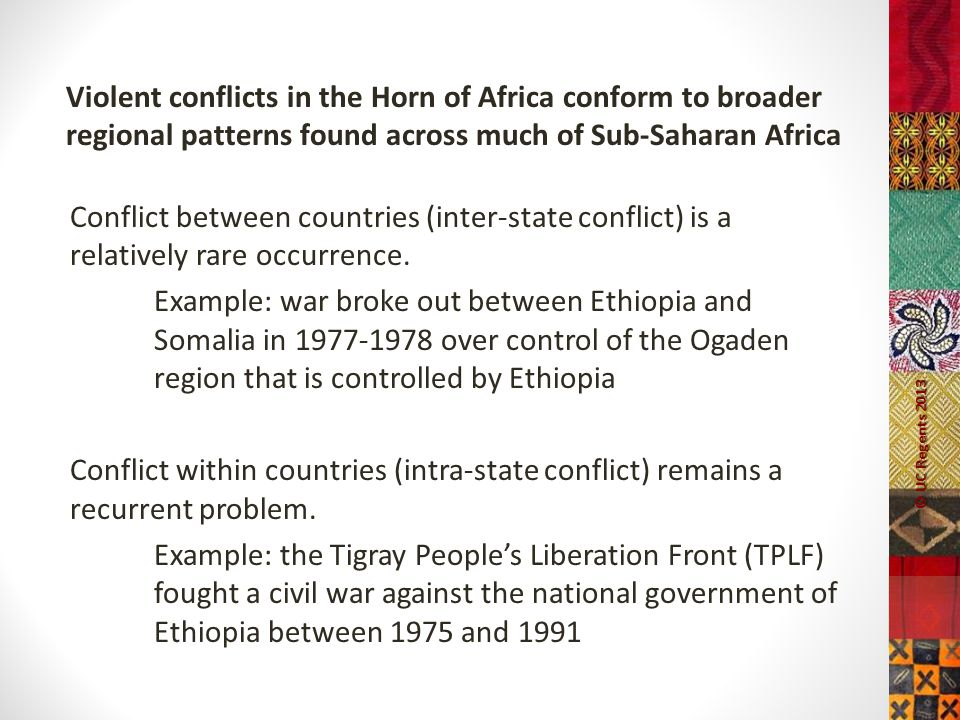 The Horn of Africa: Intra-State and Inter-State Conflicts and Security